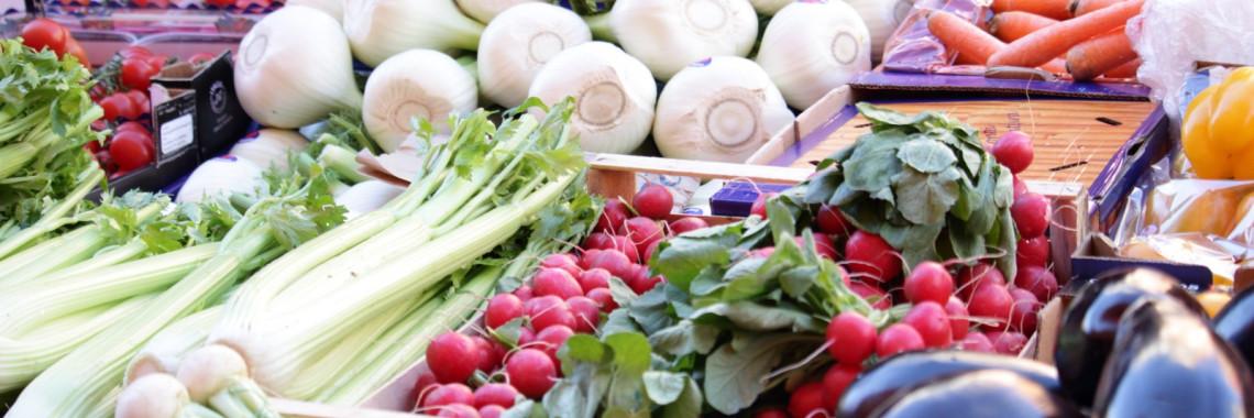 Foto mercato alimentare