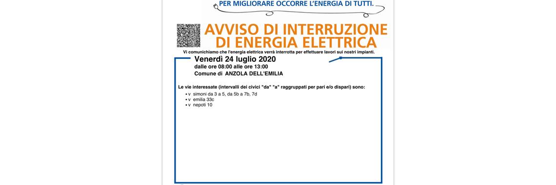 sospensione energia elettrica